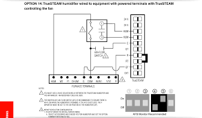 how do i wire a honeywell truesteam unit to a comfortmaker 2 stage