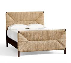 natural bed and headboard