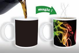 heated coffee mug magic color changing mug a heat sensitive color changing mug