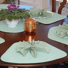 quilted placemats for round tables wedge placemats seafoam green quilted wedge shaped round table