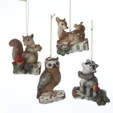 pack of 12 enchanted forest owl deer raccoon squirrel woodland
