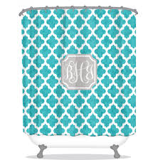 bathroom circle turquoise coral ikat shower curtain for bathroom
