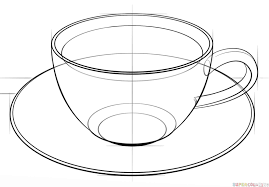 how to draw a cup of coffee step by step drawing tutorials