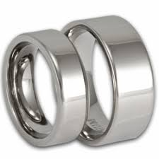 titanium wedding ring sets his and hers modern pipe cut titanium wedding ring set