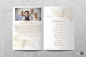 Funeral Programs Order Of Service Funeral Program Template Brochure Templates Creative Market