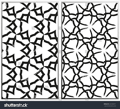 vector monochrome seamless patterns set abstract stock vector