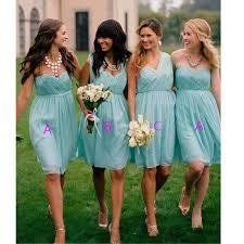 cheap teal bridesmaid dresses blue bridesmaid dresses knee length bridesmaid gown summer