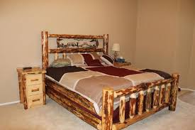 Cheap Log Bed Frames Oregon Metal Log Bed Custom Handmade Log Furniture