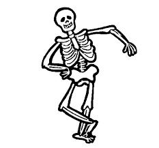happy skeleton coloring coloringcrew
