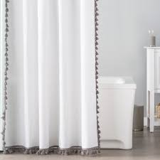 Neutral Shower Curtain Gray And Navy Shower Curtain Wayfair