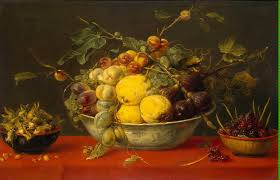 still life paintings of fruit bowls