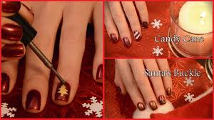 cute u0026 easy christmas nail art tutorial youtube