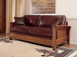 mission style leather sofa stickley orchard street sofa living in leather pinterest