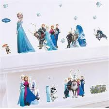 elsa wall decal disney frozen group giant wall decals roommates 13 23 3d frozen movie wall decals anna elsa bedroom stickers room decor disney frozen