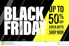 black friday graphics card vector black friday sale poster with title stock illustration