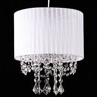 hanging crystals white fabric chandelier hanging crystals and pendants buy now