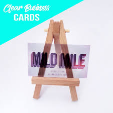 clear buisness cards clear business card u2014 mild mile
