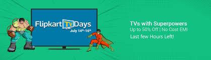 Flip Kart Flipkart Tv Days Buy Tv U0027s At Best Prices On Flipkart Tv Day