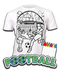 football colour wash colour kids shirt