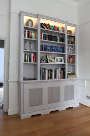 Lights For Bookcases Decor The Best Floating Bookshelves Ideas With Concrete Flooring