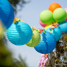 Summer Party Decorations Lanterns Lei Garland U003d Easy Awesome Decorating Idea For A Pool