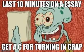 Essay Memes - squidward essay memes imgflip