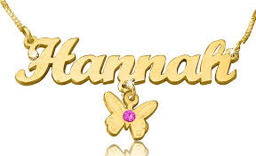 best name necklace best name necklace with butterfly charm gold plated name