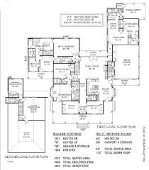 house plans with inlaw apartments 4 bedroom with in suite garage suite house