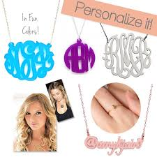 monogram acrylic necklace monogrammed accessories by lynny