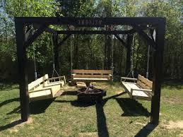 Firepit Swing Best White Pit Swings Diy Projects Porch Swing Pit