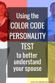 using the color code personality test to understand your spouse