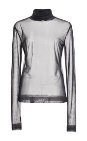 dion lee jersey sheer solid skivvy in blue lyst