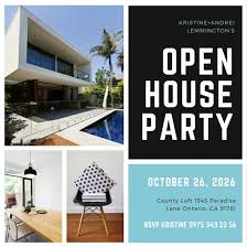 open house invitation black and white photo grid open house invitation templates by canva