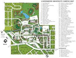 Usa Campus Map by Campus Map For St Charles Lindenwood University