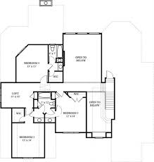 second floor plans luxury style home with 4 bedrooms 3353 sq ft house plan
