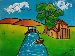 my 7th std art book drawings u0026 paintings