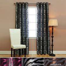 decor casual burlap black and white print room darkening curtains
