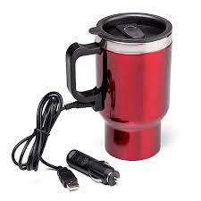 heated coffee mug dual heated travel mug thinkgeek