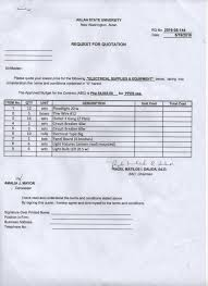 bac price quote request for quotation