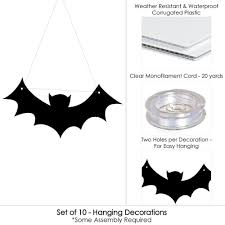 amazon com hanging black bats outdoor halloween hanging porch