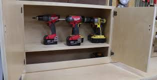 cordless tool charging station shop cabinet jon peters art u0026 home