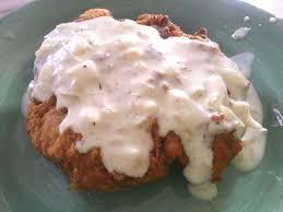 chicken fried steak with cream gravy