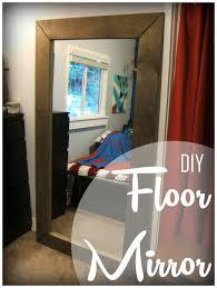 Floor To Ceiling Mirror by Nine Red Diy Floor Mirror