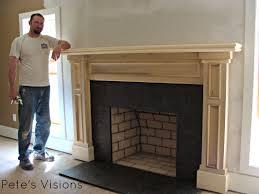 fireplace mantels pete u0027s visions custom carpentry