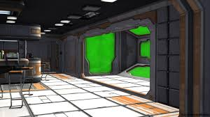 sci fi spaceship room with green screen video background youtube
