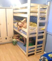 bunk bed table attachment save the space with bunk beds for three kids kids bedroom design