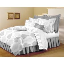 Grey And White Bedding Sets Home Dynamix Classic Trends White Light Gray 5 Piece Full Queen