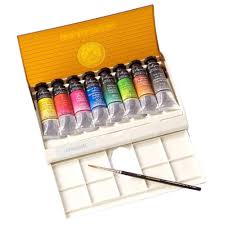 amazon com sennelier watercolor travel box 8 tube set
