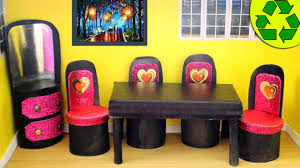 How To Make Dollhouse Furniture From Recycled Materials Diy Doll Toilet Paper Roll Furniture Simplekidscrafts Youtube