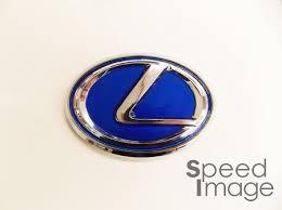 lexus emblem si universal lexus emblem 10 0cm x 7 0cm blue